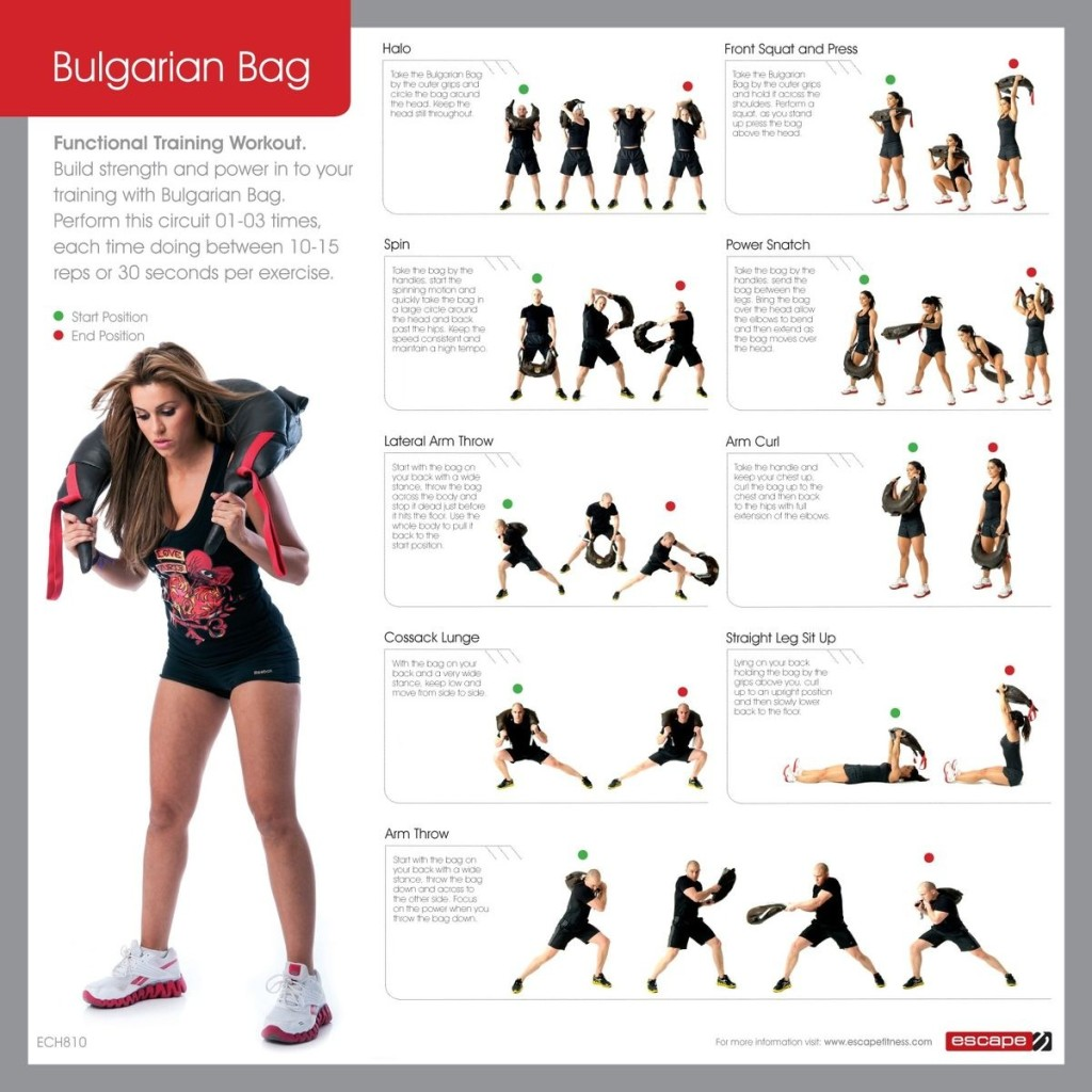 bulgarian bag workout